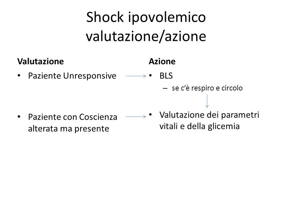 Shock ipovolemico valutazione/azione