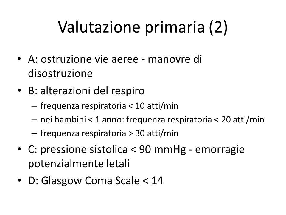 Valutazione primaria (2)