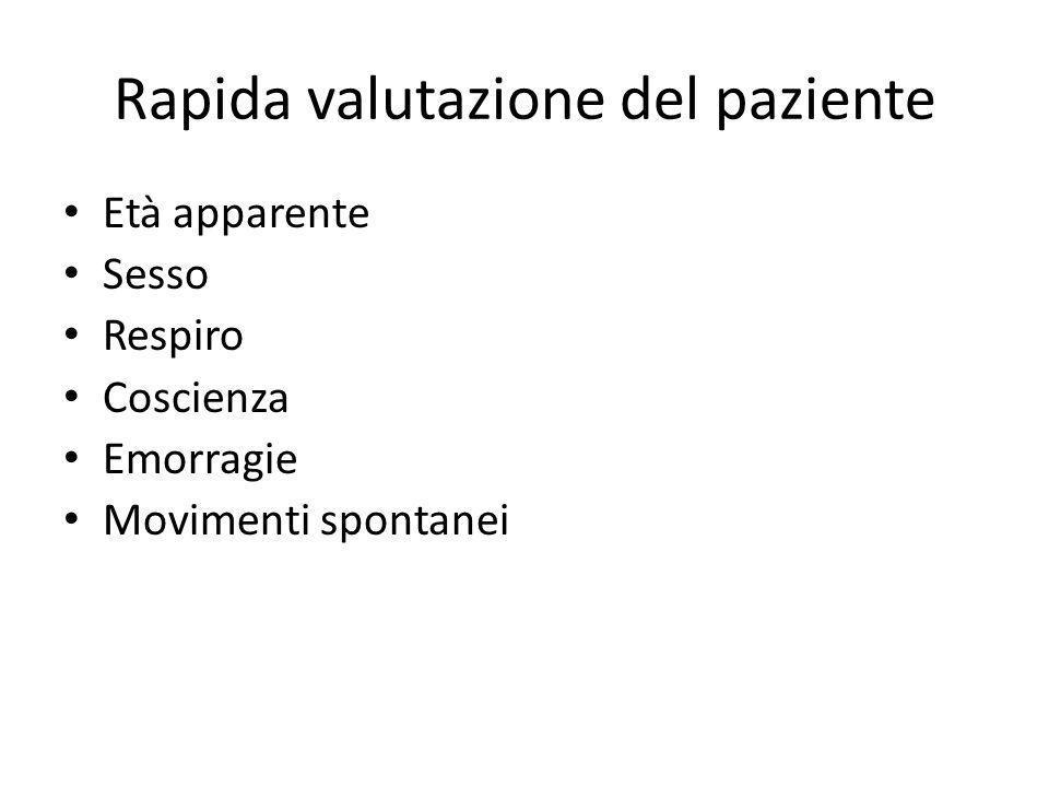 Rapida valutazione del paziente