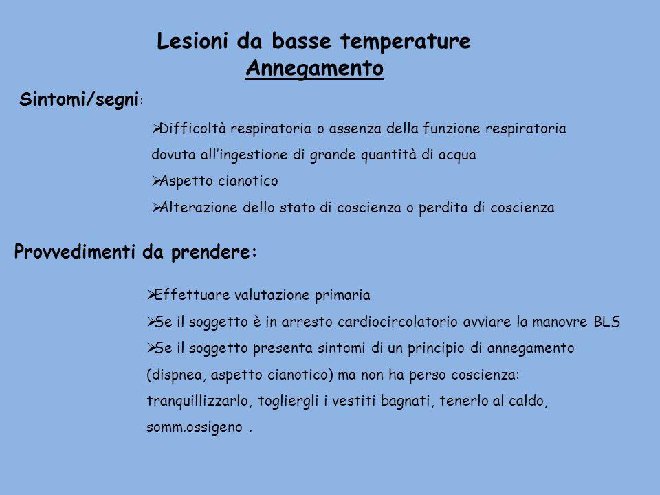 Lesioni da basse temperature
