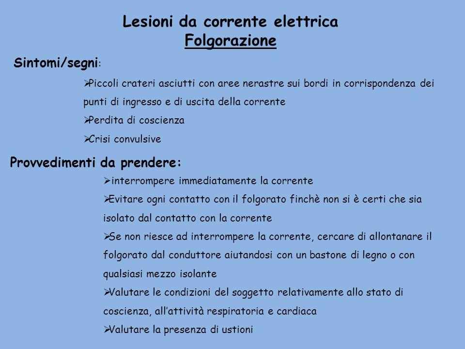 Lesioni da corrente elettrica