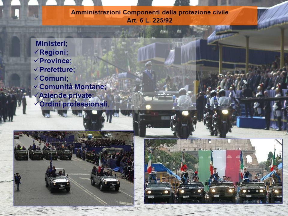 Amministrazioni Componenti della protezione civile