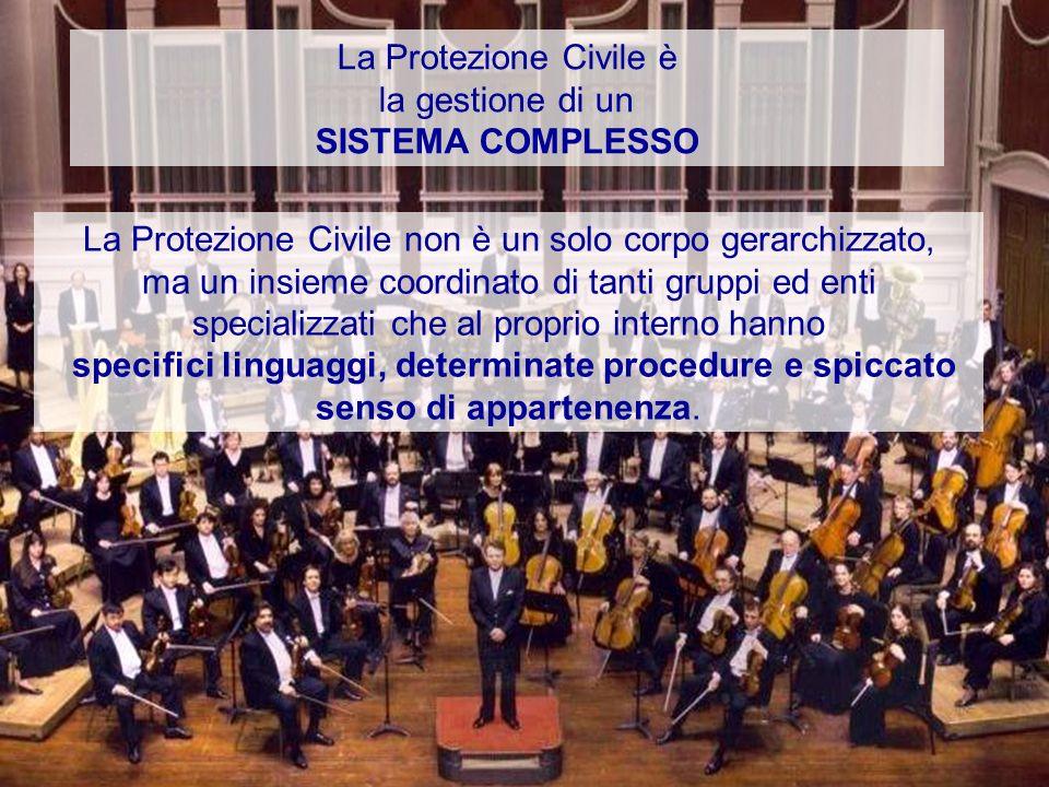 La Protezione Civile è la gestione di un. SISTEMA COMPLESSO.