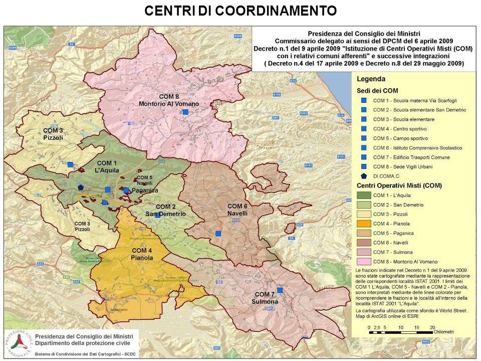 CENTRI DI COORDINAMENTO