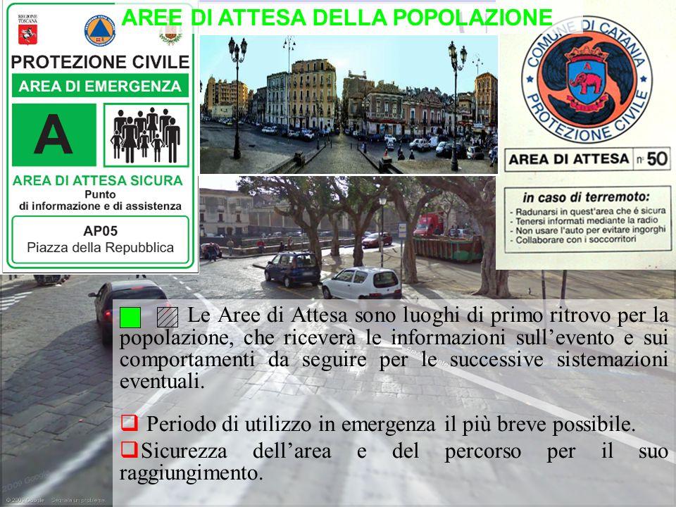 AREE DI ATTESA DELLA POPOLAZIONE