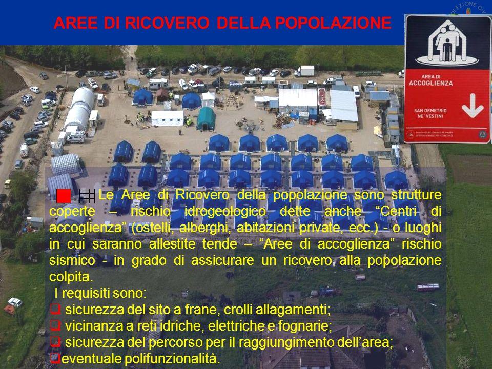 AREE DI RICOVERO DELLA POPOLAZIONE