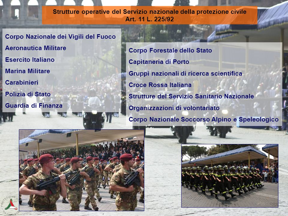 Strutture operative del Servizio nazionale della protezione civile