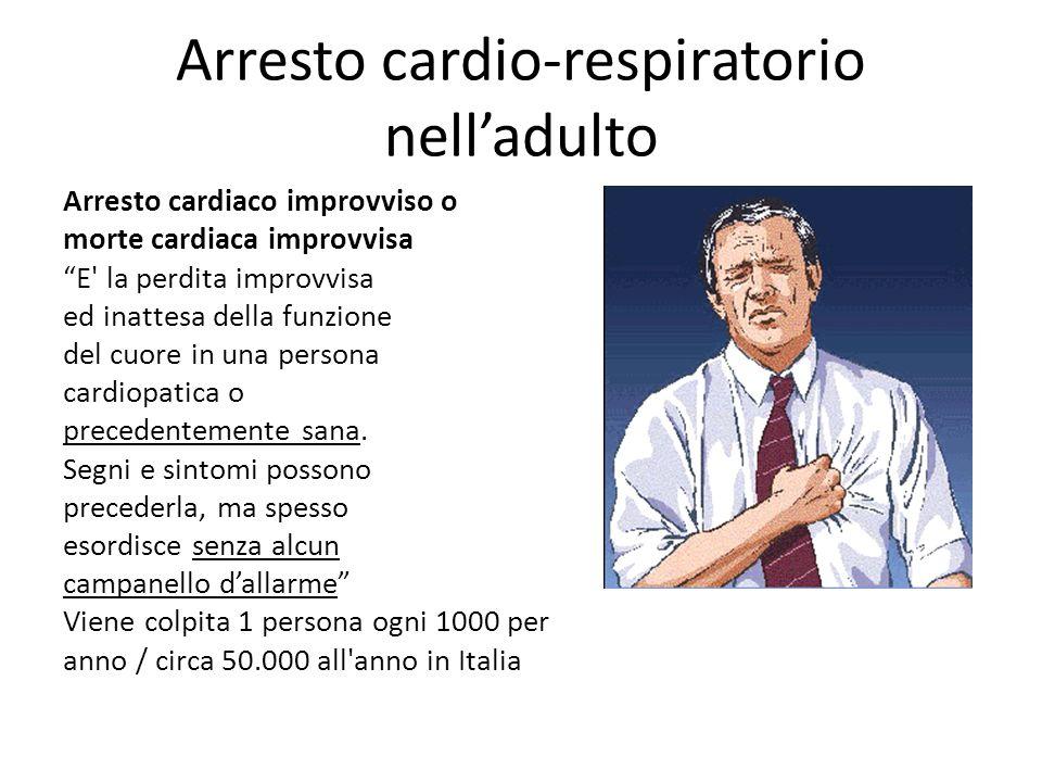 Arresto cardio-respiratorio nell'adulto