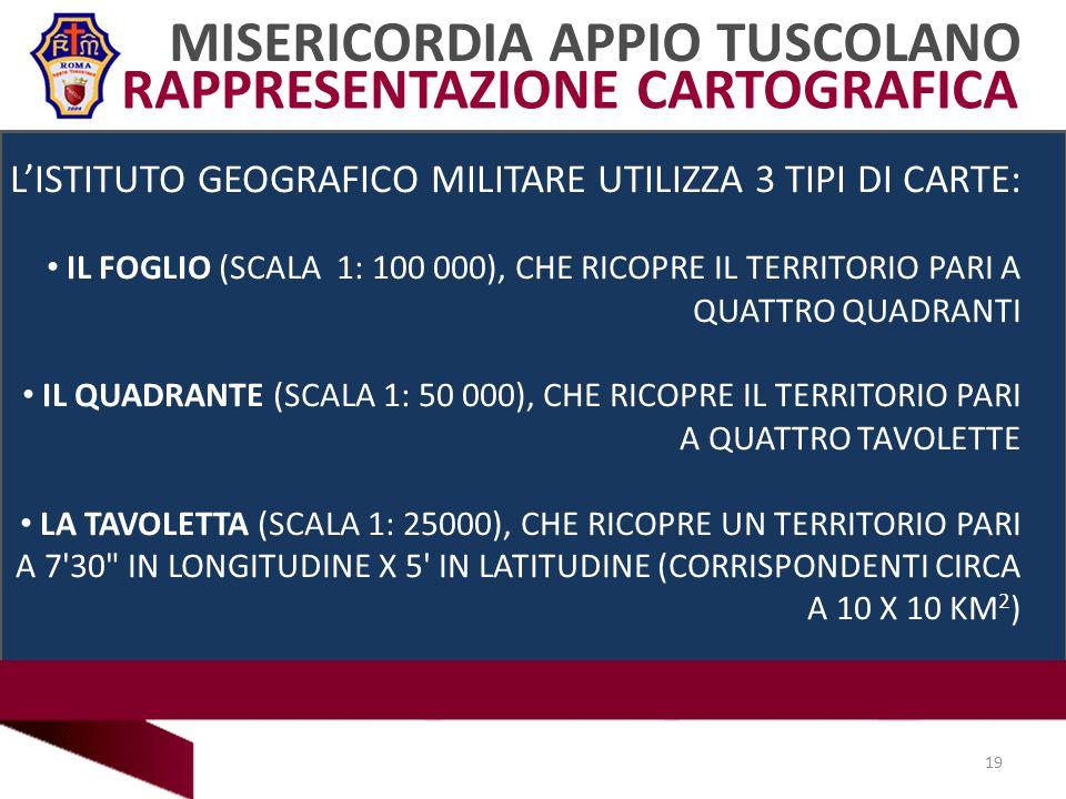 MISERICORDIA APPIO TUSCOLANO RAPPRESENTAZIONE CARTOGRAFICA