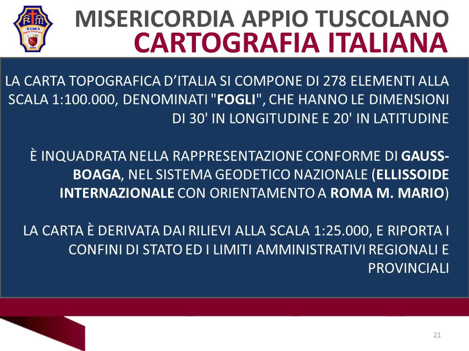 CARTOGRAFIA ITALIANA MISERICORDIA APPIO TUSCOLANO