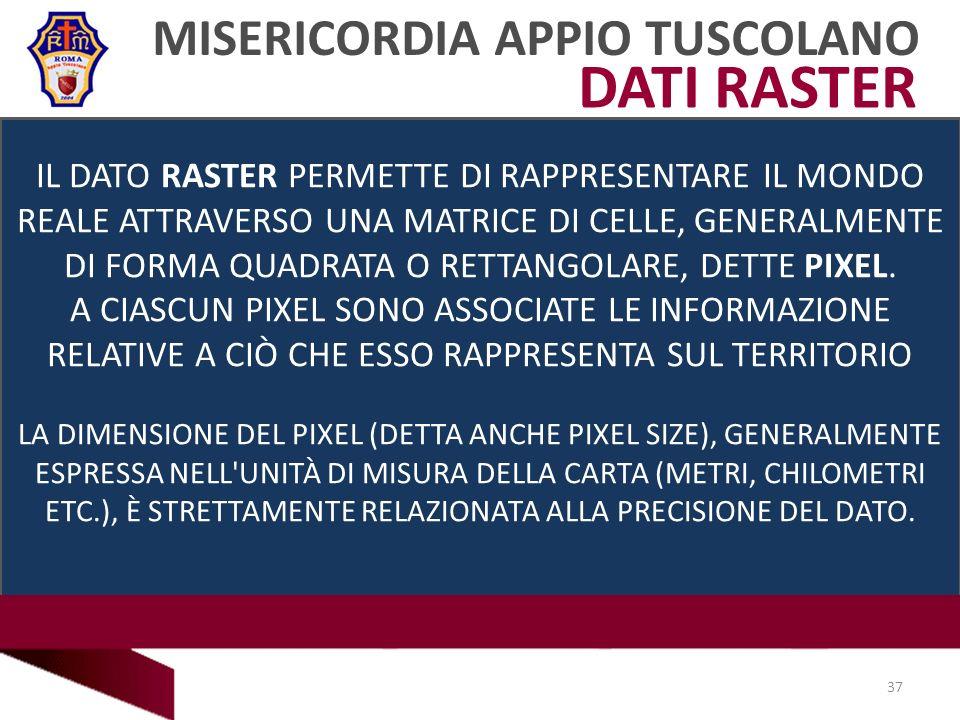 DATI RASTER MISERICORDIA APPIO TUSCOLANO