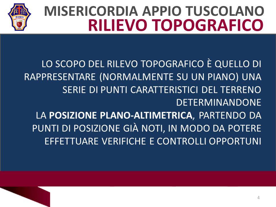 RILIEVO TOPOGRAFICO MISERICORDIA APPIO TUSCOLANO