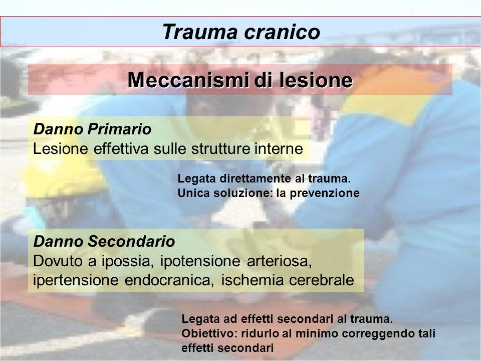 Trauma cranico Meccanismi di lesione