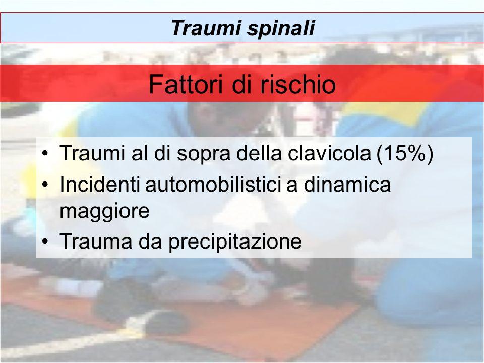 Fattori di rischio Traumi spinali