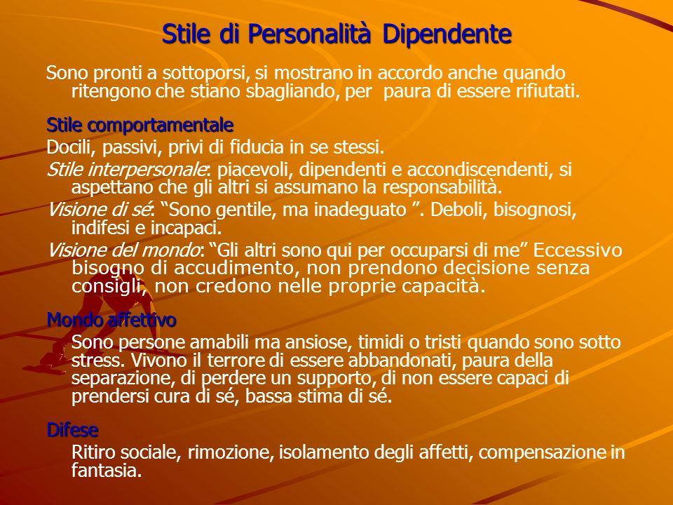 Stile di Personalità Dipendente