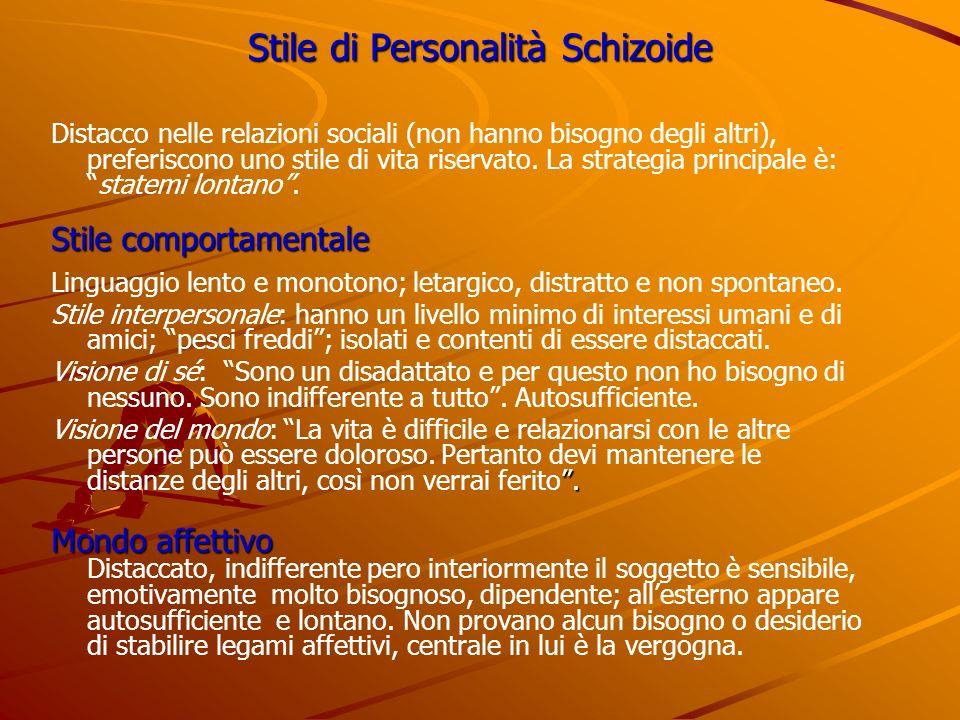 Stile di Personalità Schizoide