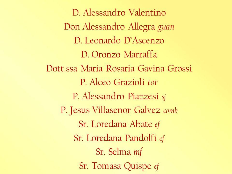 D. Alessandro Valentino Don Alessandro Allegra guan