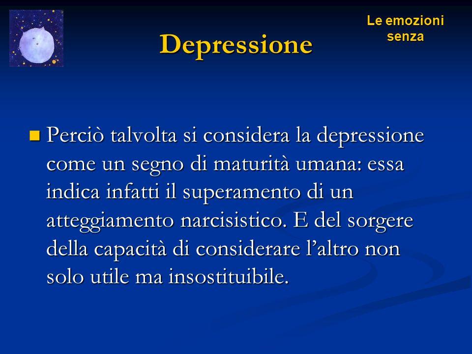 Depressione Le emozioni senza.