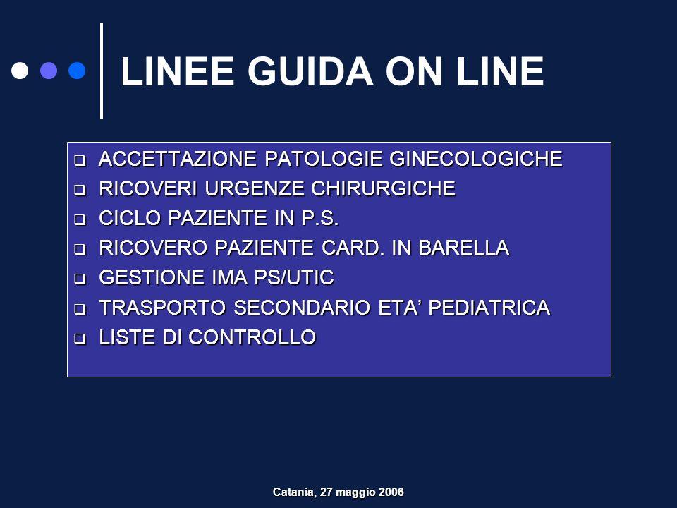 LINEE GUIDA ON LINE ACCETTAZIONE PATOLOGIE GINECOLOGICHE