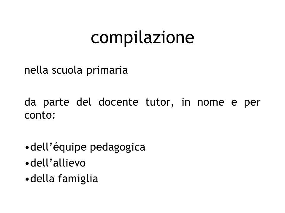 compilazione nella scuola primaria