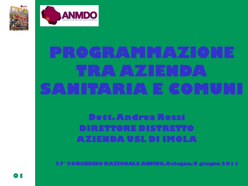 PROGRAMMAZIONE TRA AZIENDA SANITARIA E COMUNI