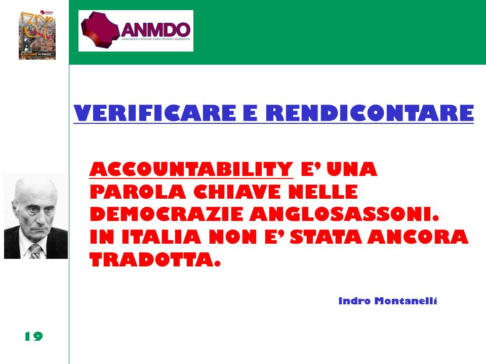 VERIFICARE E RENDICONTARE