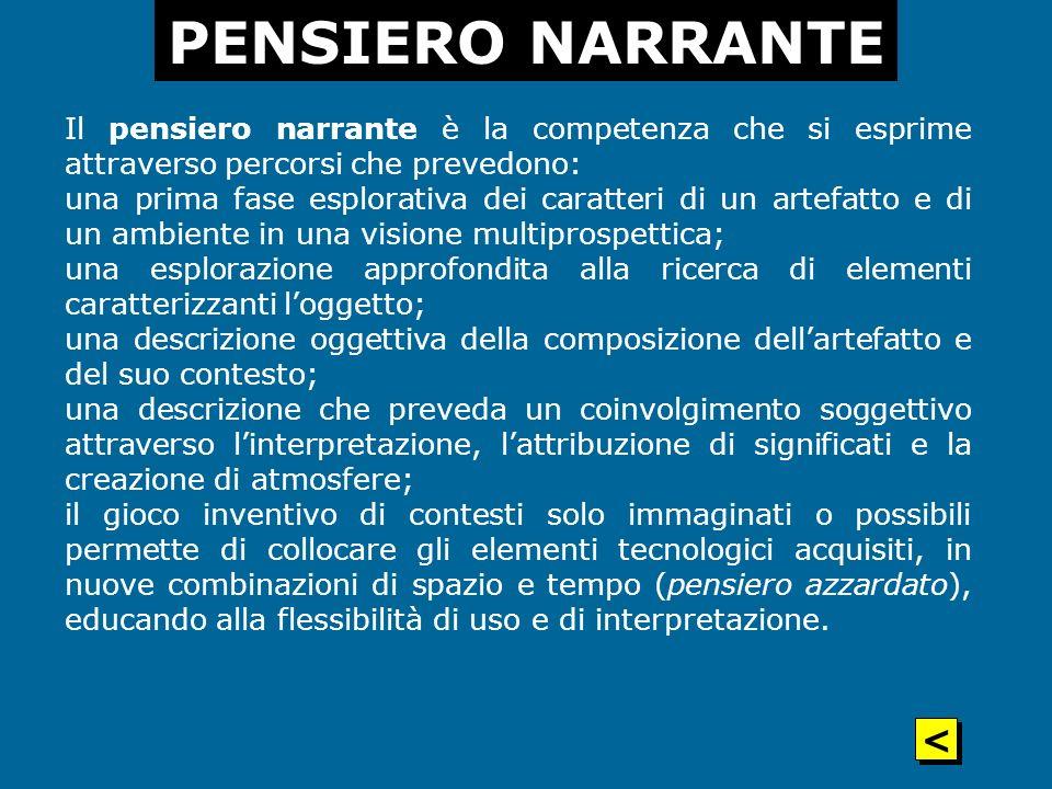 PENSIERO NARRANTE <