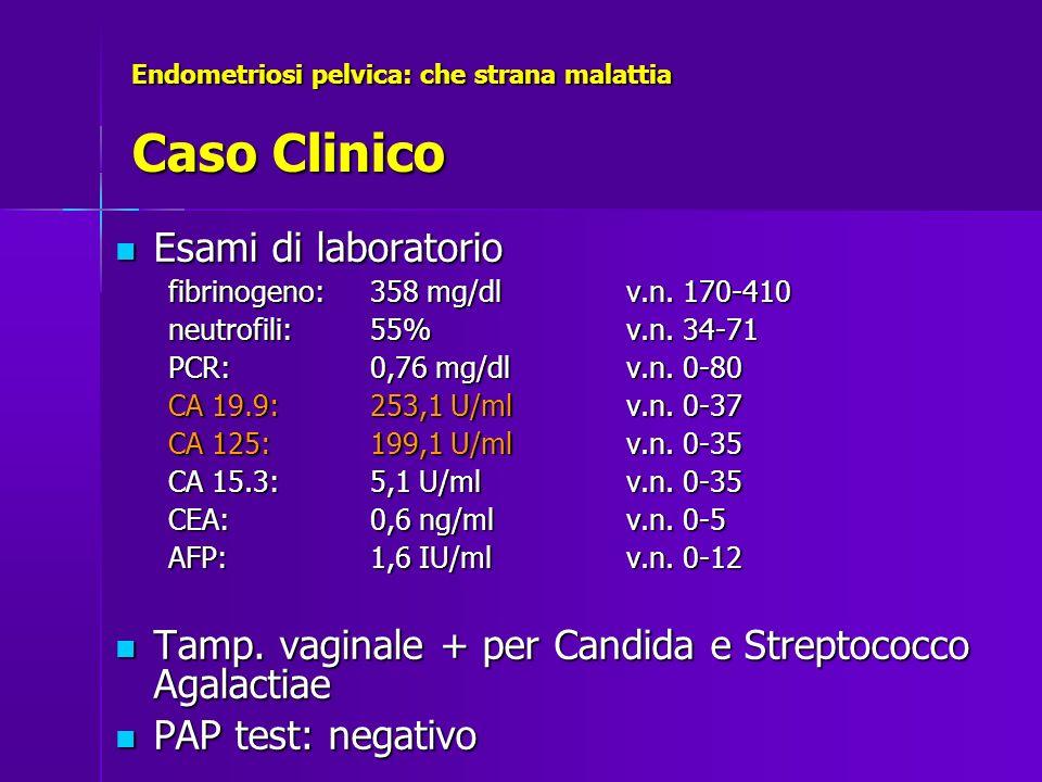 Endometriosi pelvica: che strana malattia Caso Clinico