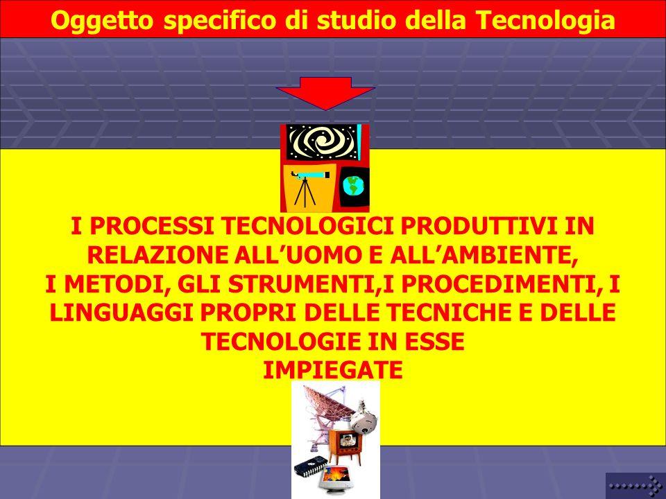 Oggetto specifico di studio della Tecnologia