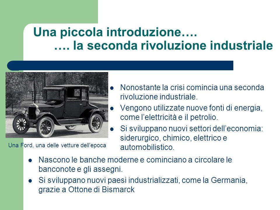 Una piccola introduzione…. …. la seconda rivoluzione industriale