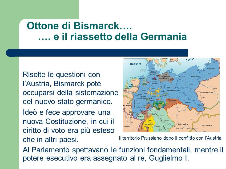Ottone di Bismarck…. …. e il riassetto della Germania