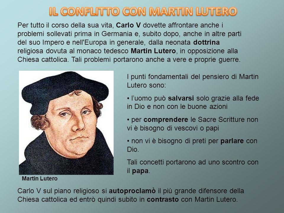 I punti fondamentali del pensiero di Martin Lutero sono: