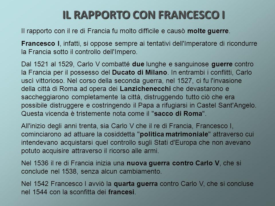 IL RAPPORTO CON FRANCESCO I