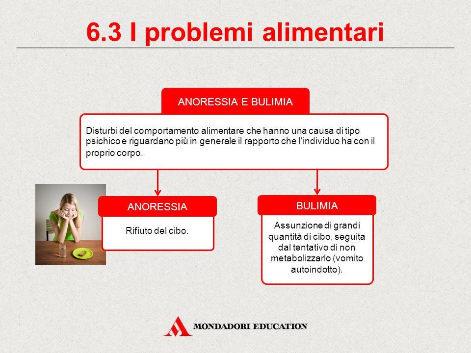 6.3 I problemi alimentari ANORESSIA E BULIMIA ANORESSIA BULIMIA