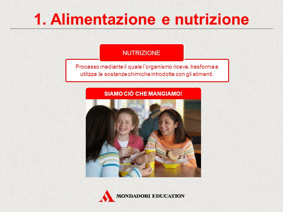1. Alimentazione e nutrizione
