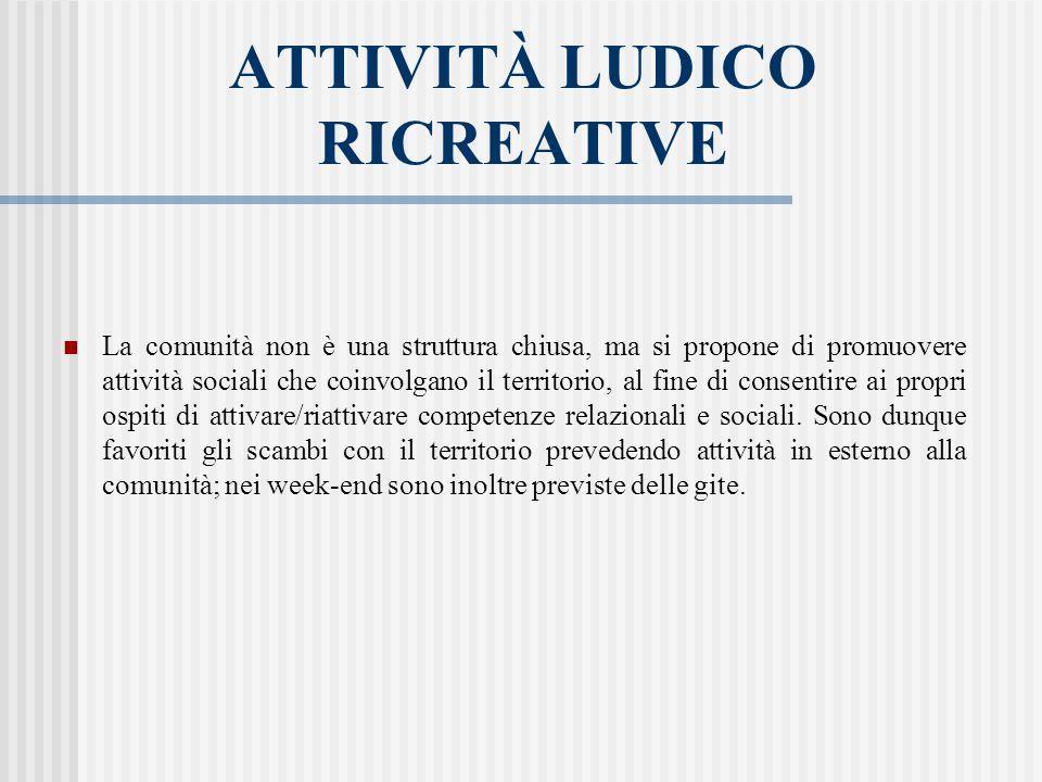 ATTIVITÀ LUDICO RICREATIVE