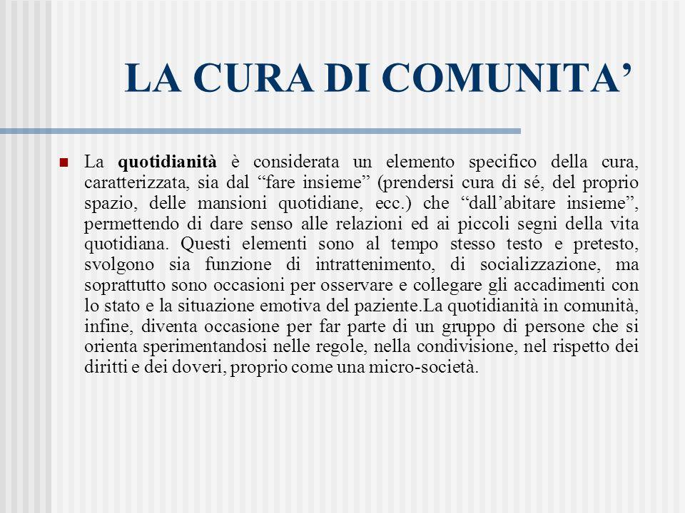 LA CURA DI COMUNITA'