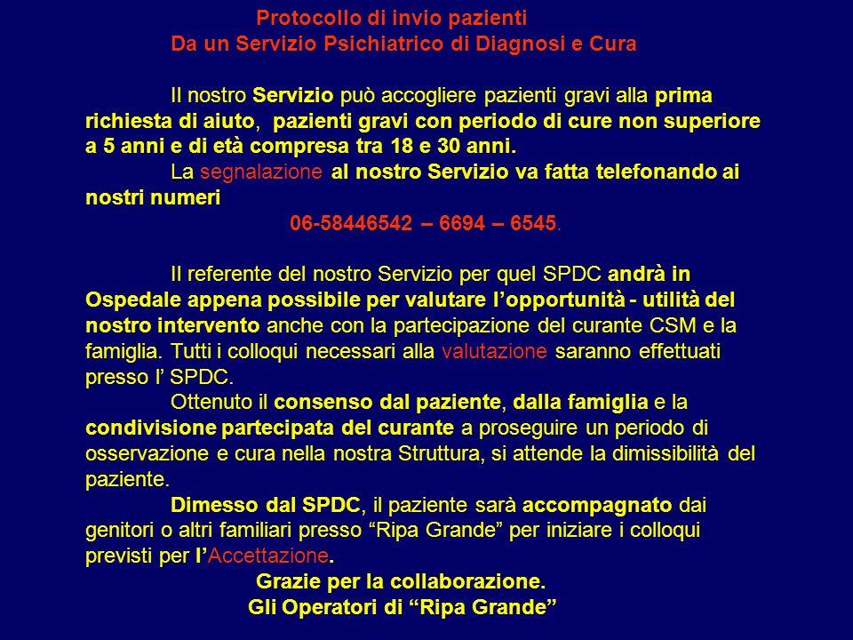 Protocollo di invio pazienti