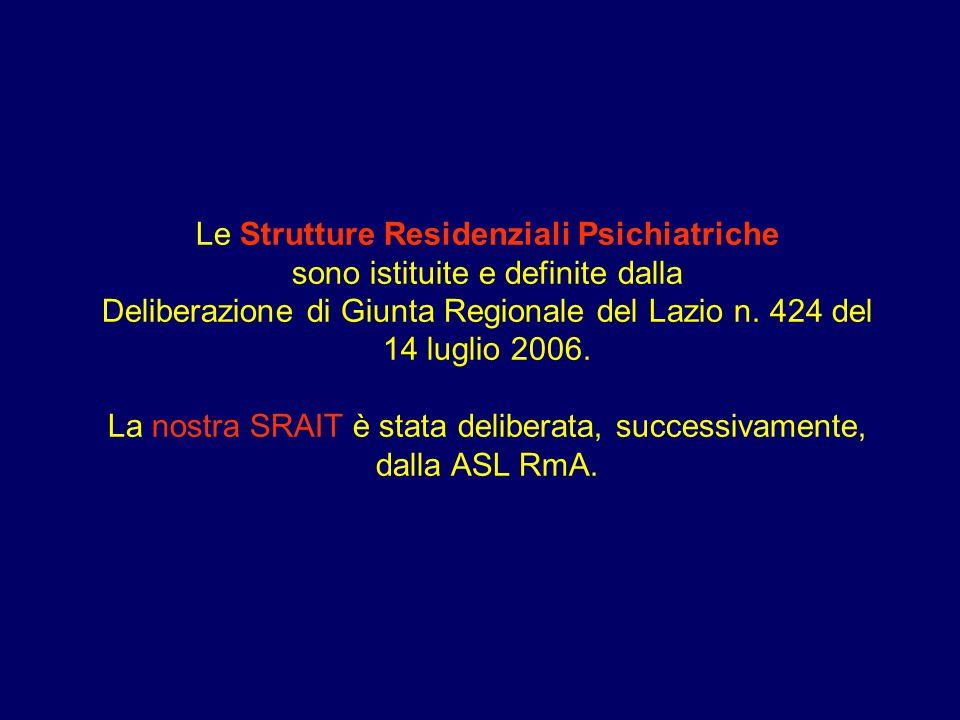 Le Strutture Residenziali Psichiatriche