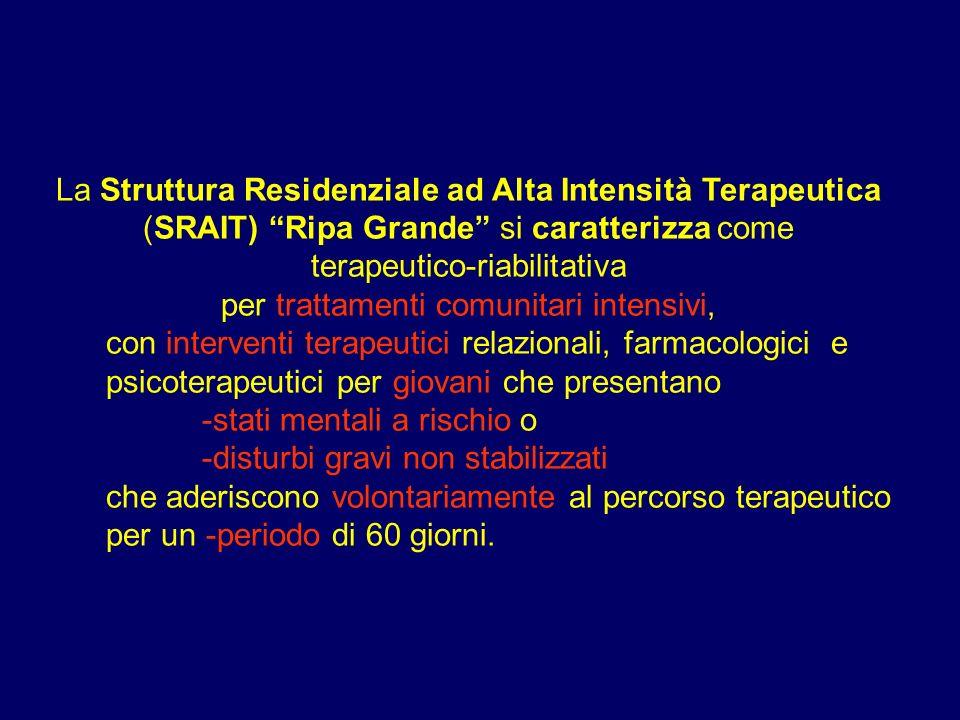 terapeutico-riabilitativa per trattamenti comunitari intensivi,