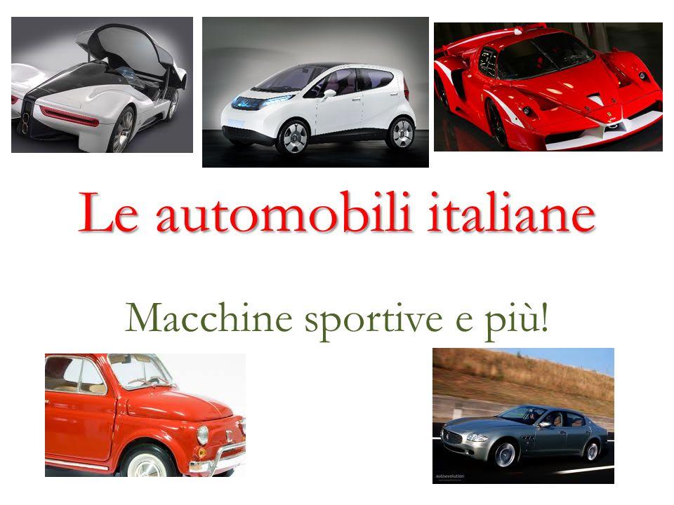 Le automobili italiane