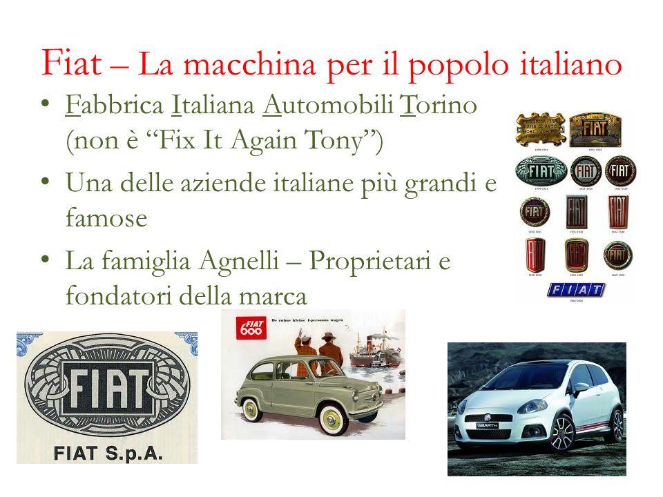 Fiat – La macchina per il popolo italiano