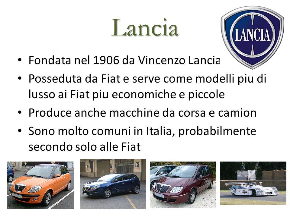 Lancia Fondata nel 1906 da Vincenzo Lancia