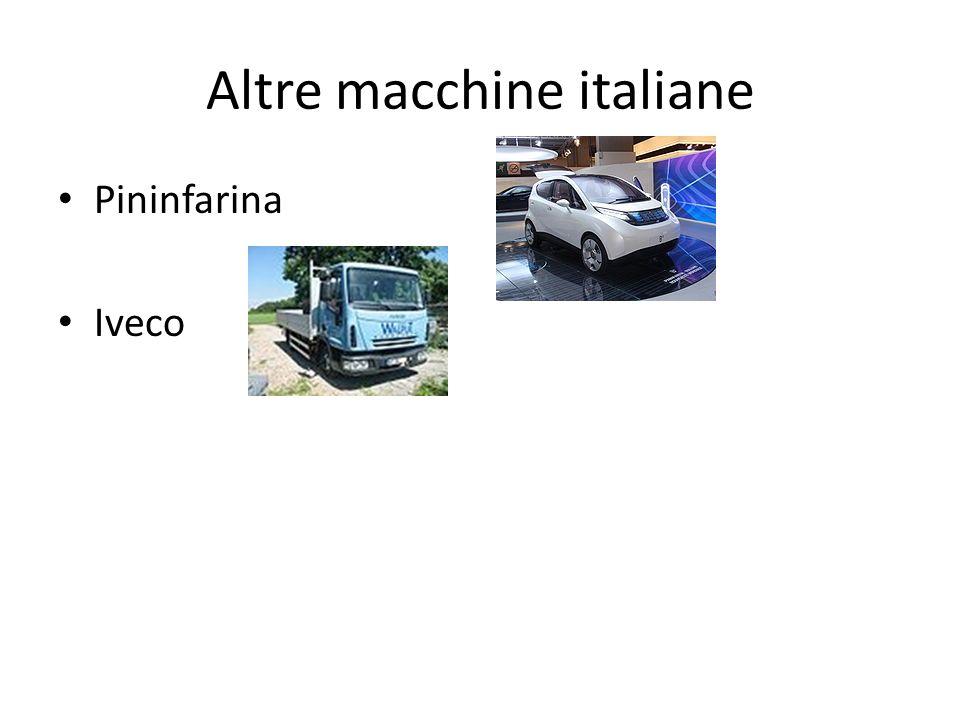 Altre macchine italiane