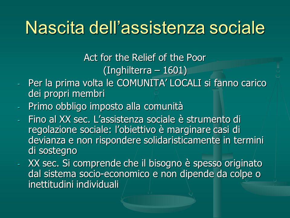 Nascita dell'assistenza sociale