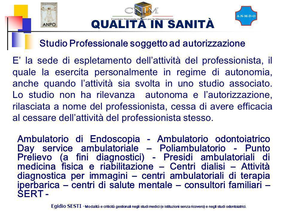 Studio Professionale soggetto ad autorizzazione