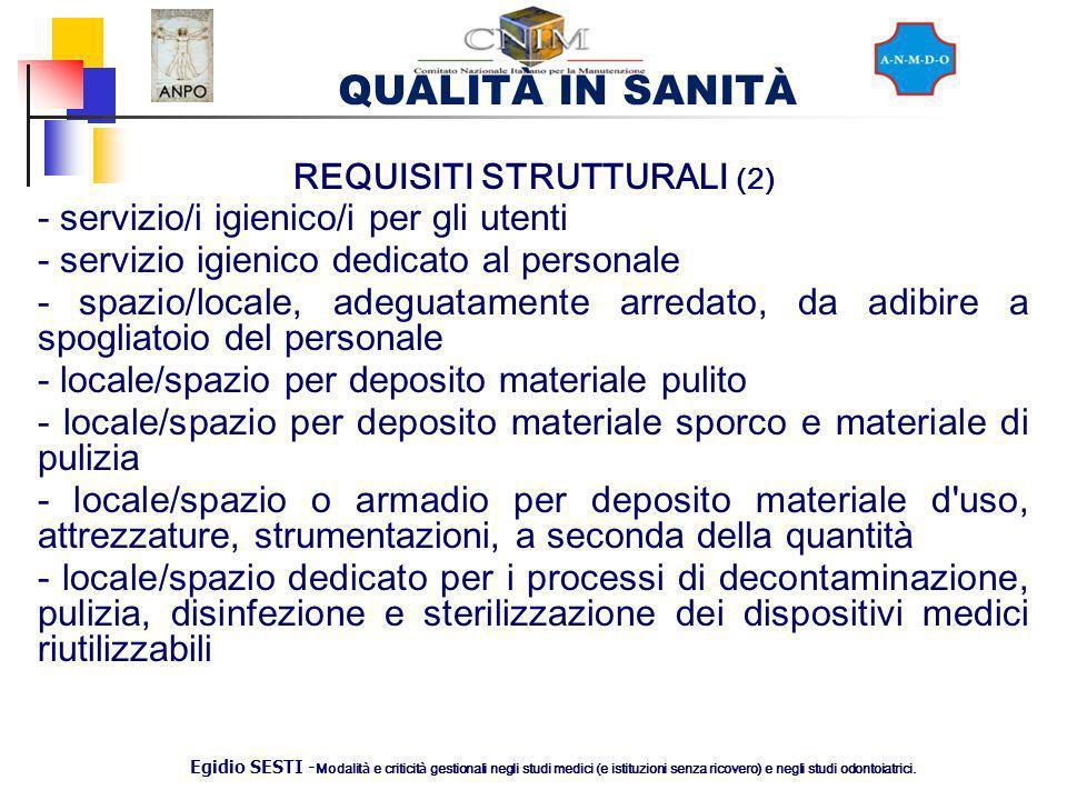 REQUISITI STRUTTURALI (2)