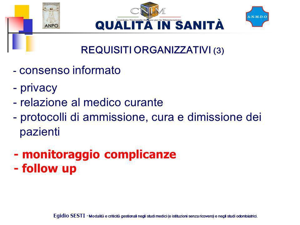REQUISITI ORGANIZZATIVI (3)