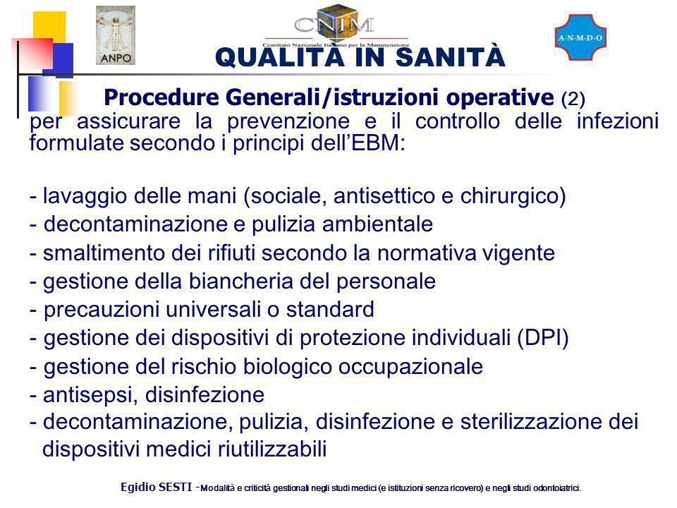 Procedure Generali/istruzioni operative (2)