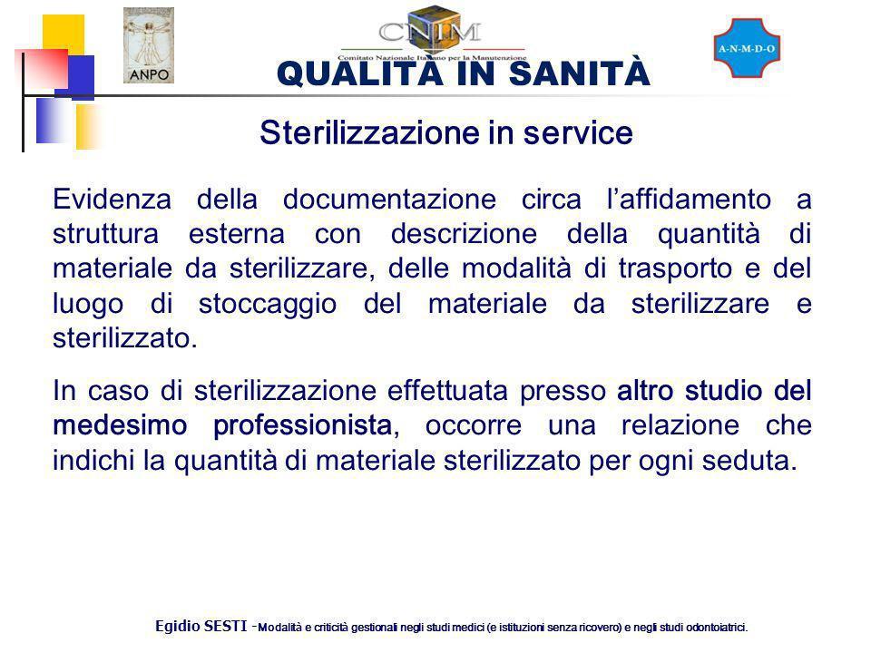 Sterilizzazione in service